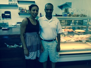 "Bakery owners Teshome ""Tesh"" and his wife Assegedech ""Asse"" Belayneh."