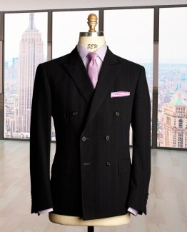 Navy windowpane, made in NYC Bespoke Blazer