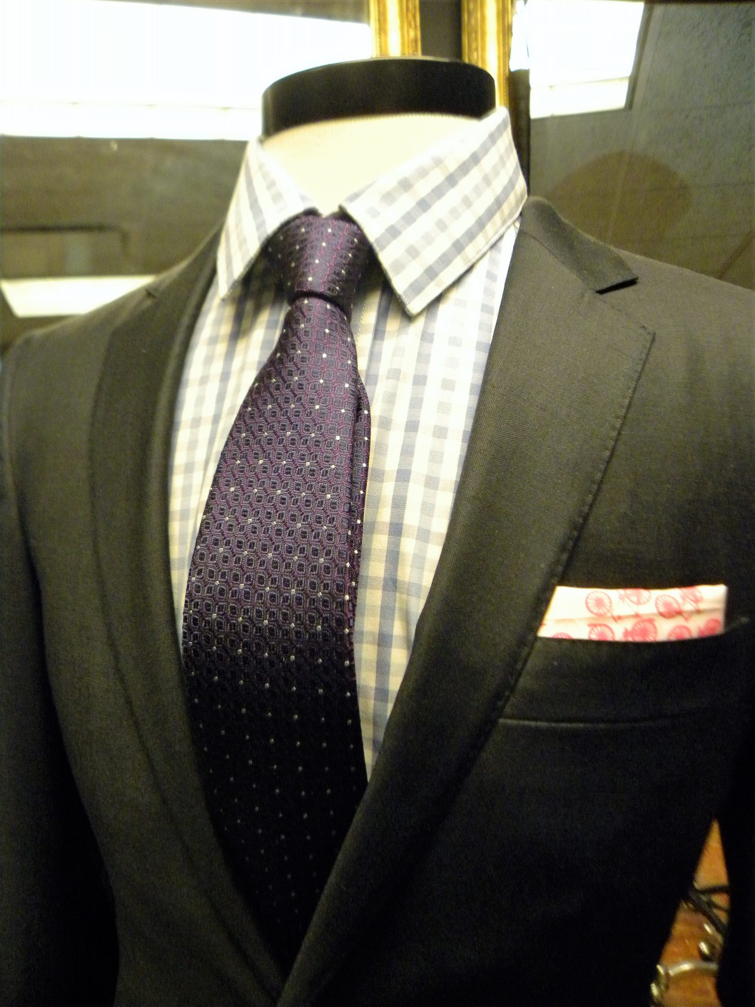 Handmade and tailored in beautiful blue fabric