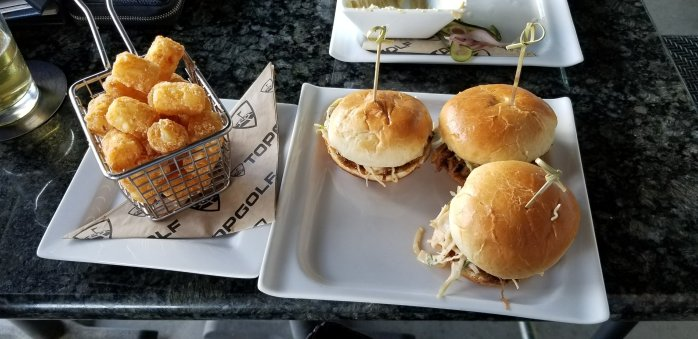Top Gulf Pulled Pork Sliders and Tator Tots