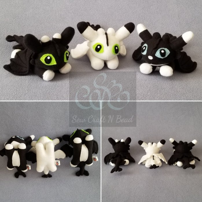 Baby Night Light Fury Dragon Plushies