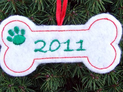 Customized Holiday Dog Ornament