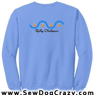 Embroidered Rally Obedience Sweatshirts