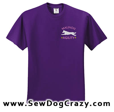 Embroidered Malinois Agility TShirt