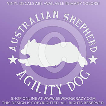 Australian Shepherd Agility Decal