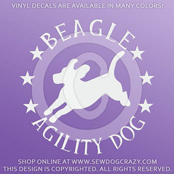 Beagle Agility Decals