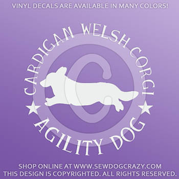 Cardigan Welsh Corgi Agility Decals