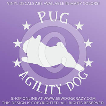 Pug Agility Decals