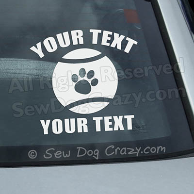 Personalized flyball stickers