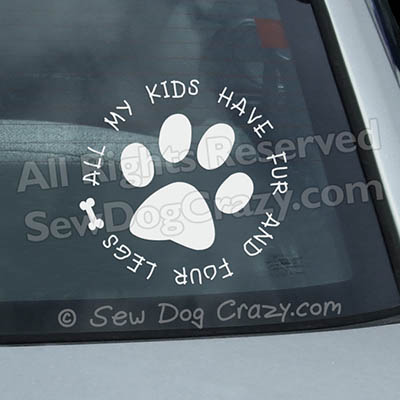 Furry Kids Car Window Stickers