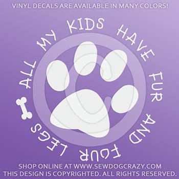 Furry Kids Car Stickers