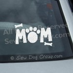 Dog Mom Car Window Sticker