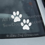 Vinyl Paw Print Car Window Stickers