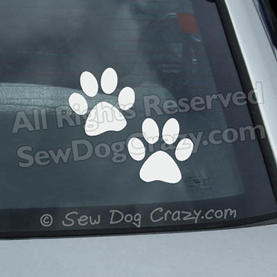 Vinyl Paw Print Car Window Stickers