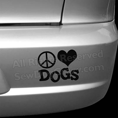 Peace Love Dogs Bumper Stickers