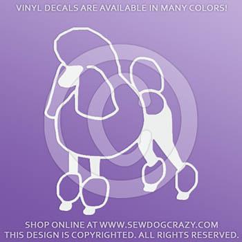 Poodle Vinyl Sticker