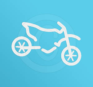 Cool Dirtbike Vinyl Sticker