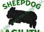 Agility Old English Sheepdog Embroidery
