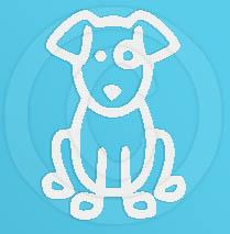 Sitting Dog Decal