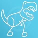 Funny T-Rex Stick Figure Decal