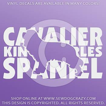 Cavalier King Charles Spaniel Vinyl Stickers