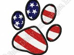 Patriotic Paw Print Embroidery