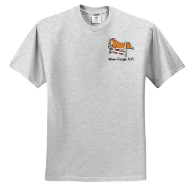 Embroidered Corgi Agility Tshirt