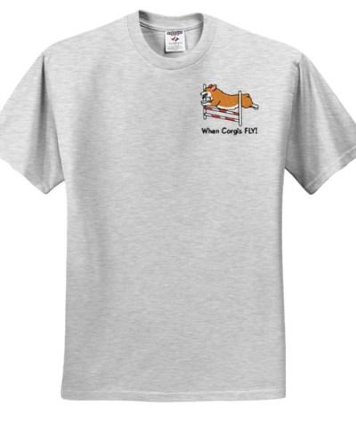 Embroidered Corgi Agility Tshirt