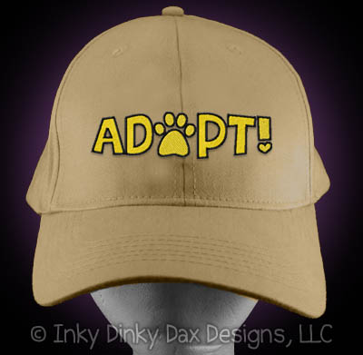 Embroidered Pet Adoption Hat