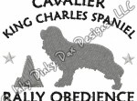Cavalier Rally Obedience Embroidery