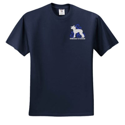 Embroidered Chinese Crested T-Shirt