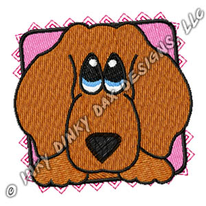 Adorable Dachshund Embroidery