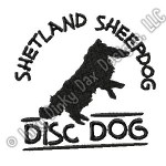 Sheltie Disc Dog Embroidery