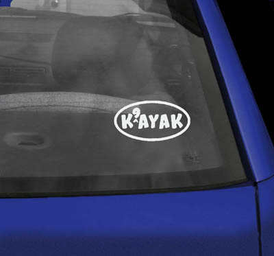 Dog Kayak Sticker