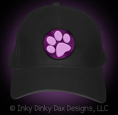 Embroidered Paw Print Hat