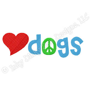 Love Dogs Embroidery