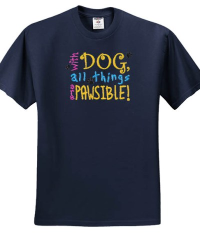 Embroidered Dog Lover T-shirt