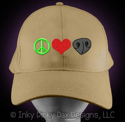 Peace Love Nosework Hat