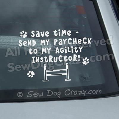 Funny Dog Agility Window Stickers