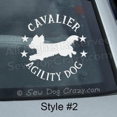 Cavalier King Charles Spaniel Agility Sticker