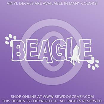 Beagle Vinyl Stickers