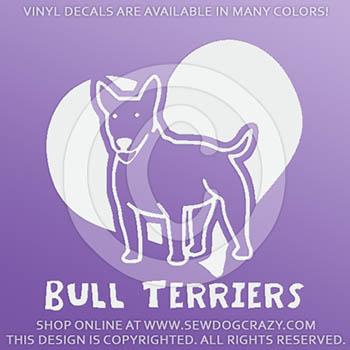 Cute Bull Terrier Stickers