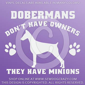 Funny Doberman Vinyl Decals