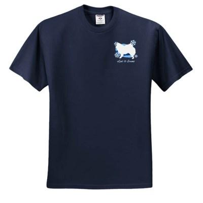 Winter Wonderland American Eskimo Dog Embroidered Shirt