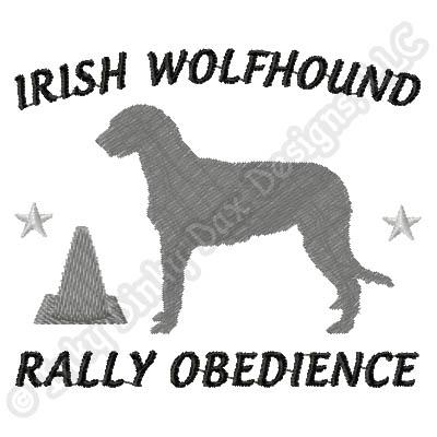 Rally Irish Wolfhound Embroidery