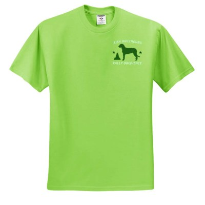 Embroidered Irish Wolfhound Rally Obedience TShirt