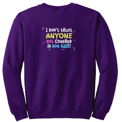 Funny Dog Lover Embroidered Sweatshirt