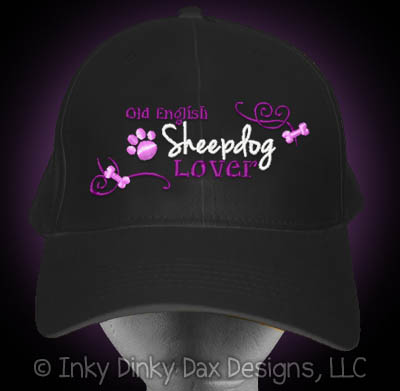 Embroidered Old English Sheepdog Hat