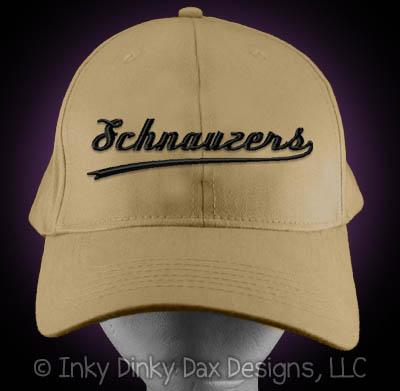 Embroidered Schnauzer Baseball Hat