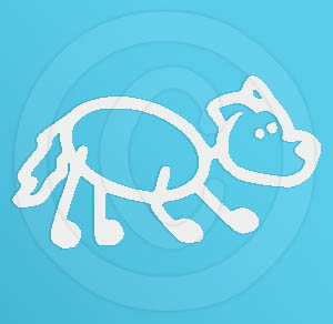 Border Collie Crouch Decal